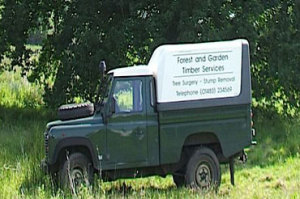 Tree Surgery van in Woking